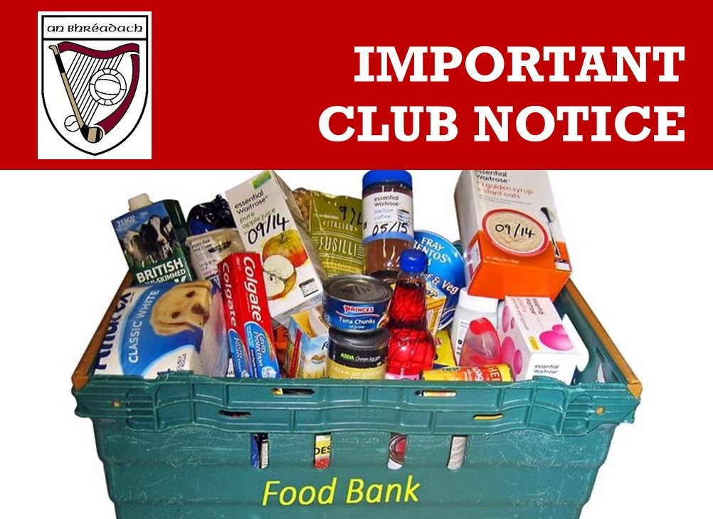 Foodbank – Message from our Chairman Malcolm